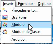 Inserir > Módulo