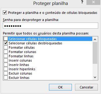 Senha para Desproteger Planilha - Bloquear Células no Excel